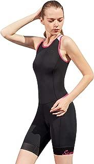 Santic Womens Premium Padded Triathlon Tri Suit Compression Duathlon Running Swimming Cycling Skin Suit