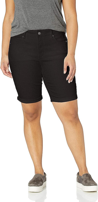 NYDJ Women's Plus Size Briella Roll Cuff Jean Long Slimming Denim Shorts