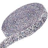 GORGECRAFT 1,5 cm Strassband, glitzernd, Kunstharz, Hotfix-Strass-Bling-Rolle, Banding, Gürtel, zum Basteln, für Veranstaltungen, Kostüme, Dekorationen, transparent