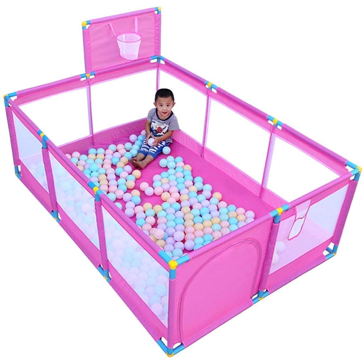 中間コード鮮やかな幼児のためのベビーサークル、かわいい安全プレイセンターヤード赤ちゃん幼児ベビーサークルプレイヤードテントキッズアクティビティセンター(ボールなし)