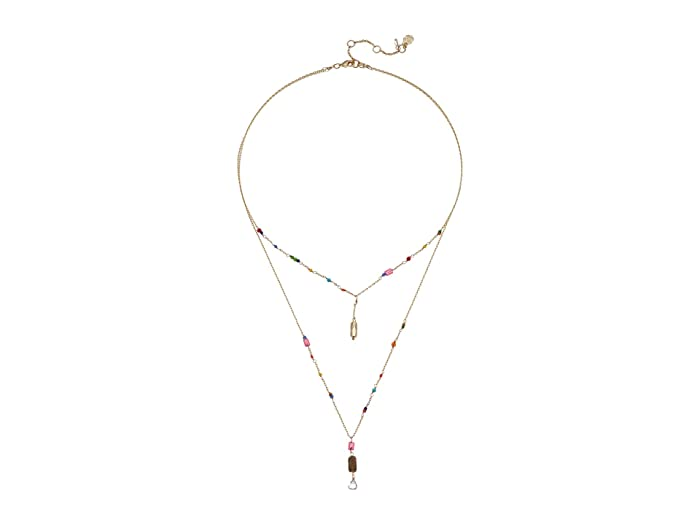 Lucky Brand  Charmed with Beadslayer Necklace (Gold) Necklace