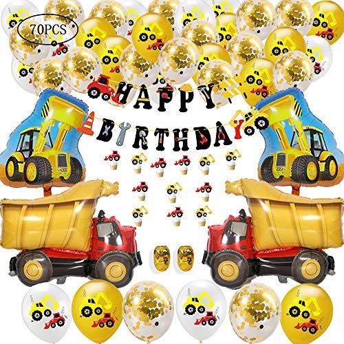 MEISHANG Bagger Geburtstag Deko,Bagger Luftballons,Bagger Geburtstag Deko Set,Bagger Kindergeburtstag Deko Geburtstagsdeko,Bagger Kindergeburtstag Deko