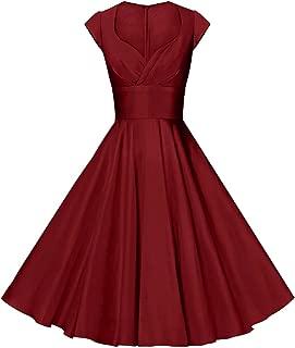 Best maroon knee length dress Reviews
