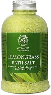 Bath Salts w/Natural Essential Lemongrass Oil 600g - Sea Salt Bath for Good Sleep - Bathing - Body Care - Wellness - Beaut...