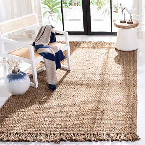 Safavieh Natural Fiber Collection NF467A Hand-woven Jute Area Rug, 5' x 8'
