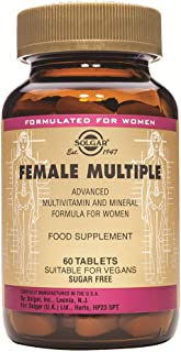 Solgar Female Multiple, 60 Tablets - Multivitamin, Mineral & Herbal Formula for Women - Advanced Phytonutrient - Vegan, Gl...