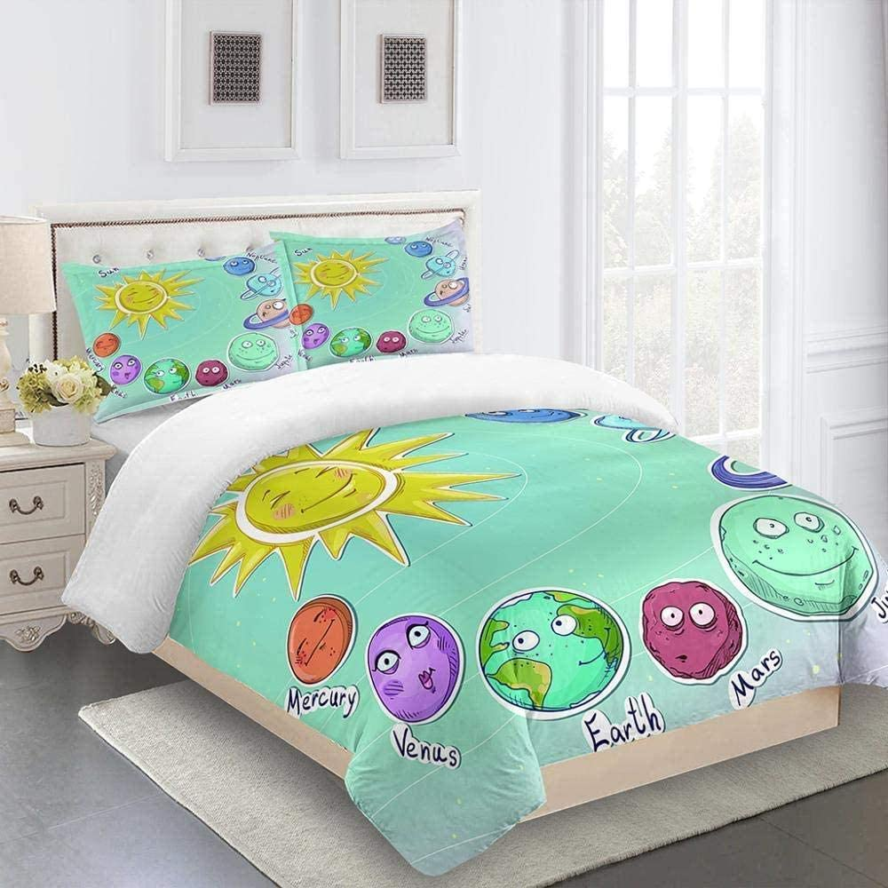 WRIXFA Duvet Covers Cartoon Earth Soft Breathable Sun and Indianapolis Mall Ultra Ranking TOP13