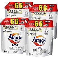 [Amazon限定ブランド][ケース販売] デカラクサイズ アタック ゼロ(ZERO)洗濯洗剤 詰め替え 2380g×4個 清潔実感! 洗うたび白さよみがえる