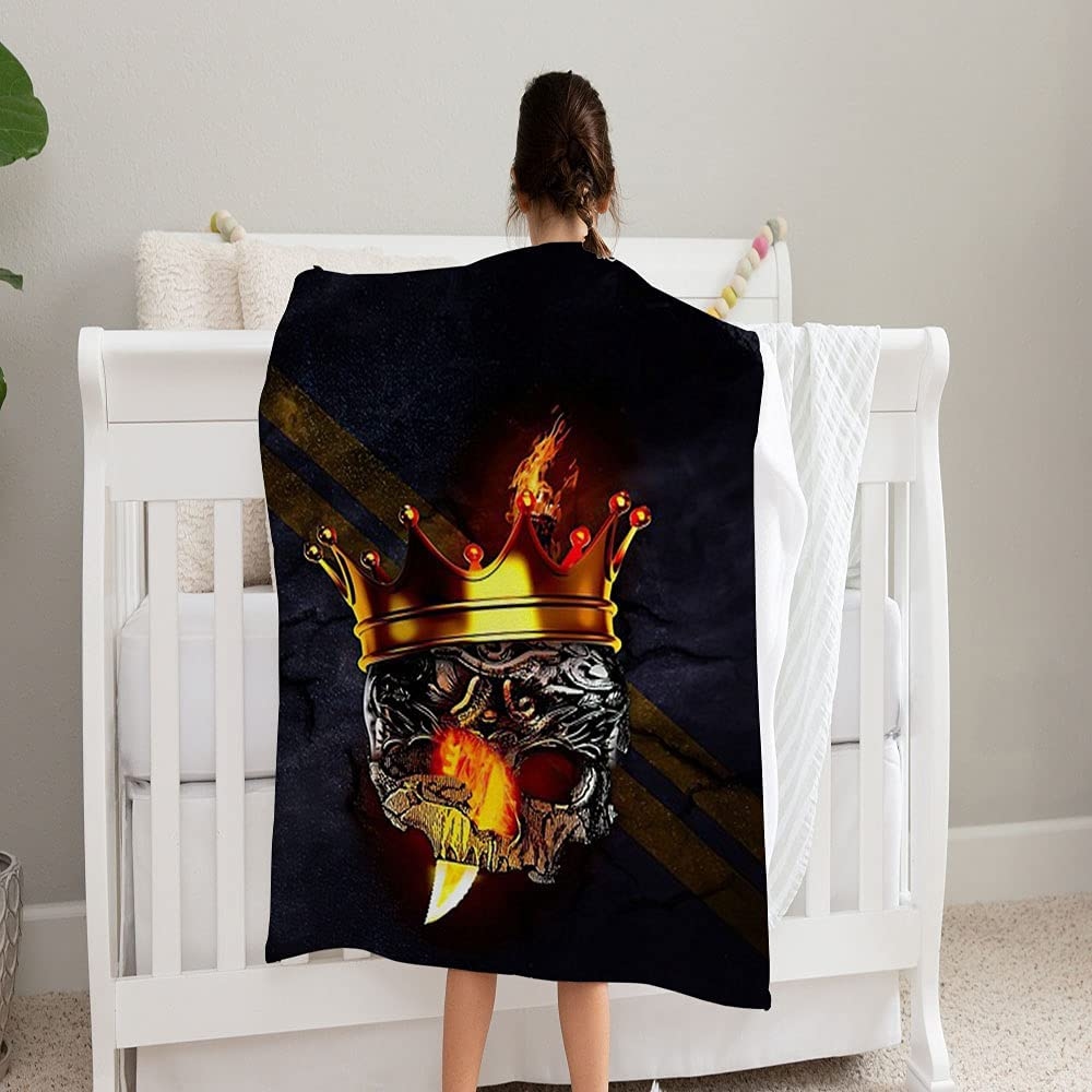 GANTEE King of The Roads Super Perf Cozy NEW before selling Seattle Mall ☆ and Soft Fleece Blanket
