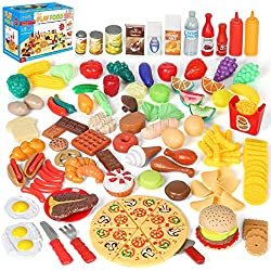 powerful Simfan play food set, 130 children and toddlers play food kitchen toy set. Imagine you're playing wrong …