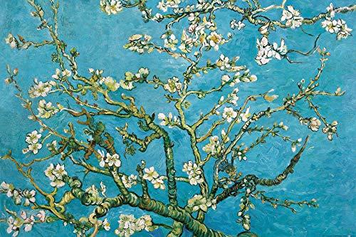 1art1 Vincent Van Gogh - Blühende Mandelbaumzweige, 1890 XXL Poster 120 x 80 cm