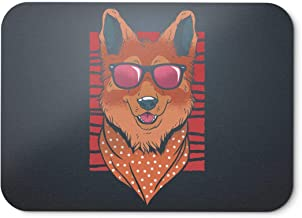 BLAK TEE Cool Fashion German Shepherd with Sunglasses Mouse Pad 18 x 22 cm in 3 Colours Black