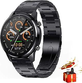 スマートウォッチ 2021最新版 スマートウォッチ 1.3インチ 360*360解像度 フルタッチスクリーン スマートウォッチ 丸型 IP67防水 smart watch Buetooth5.0 スマートブレスレット 歩数計 GPS運動記録 L...