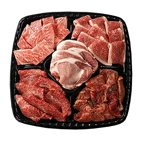 BBQプレート 特選 【冷凍 日時指定】3〜4人前 計830g 焼肉セット 常陸牛 黒毛和牛 茨城豚 カルビ ロース もも