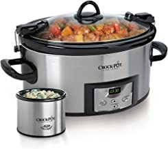 Crock pot SCCPVL619 S A 6 Quart Metallic Cooker with Hinged Lid, Black