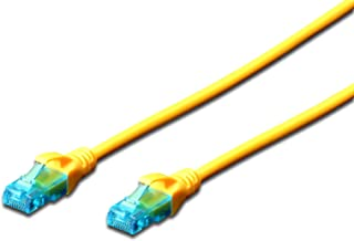 DIGITUS CAT 5e U-UTP Patch Cable, 3m, Network LAN DSL Ethernet Cable, PVC, Copper, AWG 26/7, Yellow