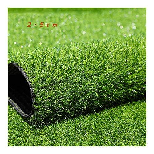 GFSD Künstlicher Rasenteppich Wasserdicht Kindergarten Rasen Hochzeitsausstellung Sport Rasen Künstlicher Kunststoff Gefälschter Rasen Dekor (Color : Green 2.5cm, Size : 2x2m)