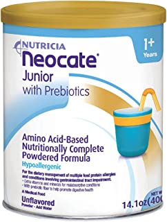 Neocate Junior with Prebiotics, Unflavored, 14.1 oz / 400 g (1 can)