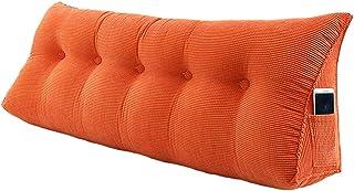 xinke Oreillers pour La Lecture dans Le Lit Triangle Back Support Coussin d'oreiller avec Couverture Lavable Amovible(Siz...