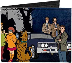 Scooby Doo Supernatural Scoobynatural 8-Character Group Pose Canvas Wallet