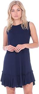 Popana - Vestido de Verano para Mujer, Estilo Casual, Talla Mediana, para Playa, Fabricado en Estados Unidos