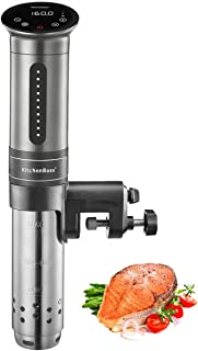 KitchenBoss 低温調理器 850W Sous Vide IPX7の防水性 真空調理器 10個の食品用真空バッグと日本語取扱説明書含まれています G310