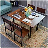 Youdw Small Home Folding Dining Table Computer Desk Oak Industrial Style Household Flip Table...