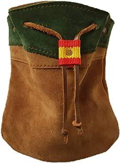 CAZA Y AVENTURA Una Bolsa Ojeo-Bolsa portacartuchos en Serraje, para Llevar en el cinturón.Cierre con cordón. para 40 Cartuchos
