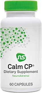 NeuroScience Calm CP - Adrenal Health Supplement to Help Decrease Cortisol - Support Sleep, Mood + Stress Relief with Bana...