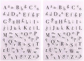 أختام أووتنيس شفافة حروف إنجليزية قابلة لإعادة الاستخدام طوابع ختم كابيتال لألبوم الصور وصنع بطاقات القصاصات