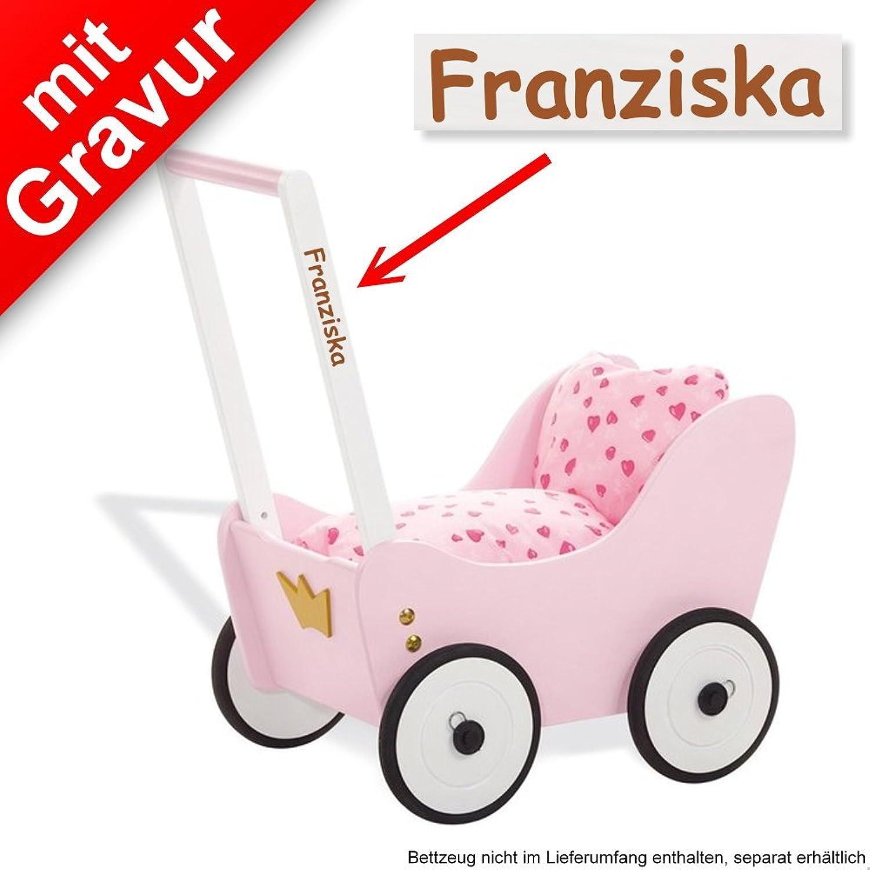 Sterngraf Pinolino Puppenwagen 'Prinzessin Lea' MIT Gravur (z.B. Namen, Datum)