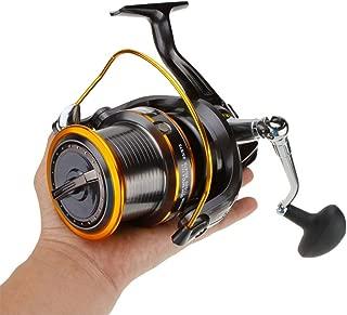 CDKZK Casting Carretes Spinning Carrete, Carrete 12 + 1BB para Carpa Agua Salada Surf Largo Casting océano mar Pesca Carrete