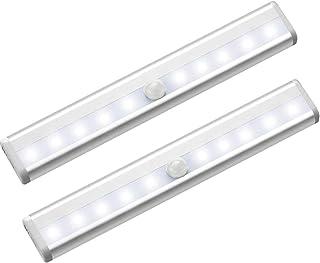 AYUTOY Luces LED Armario con Sensor Movimiento, Lamparas Led a Pilas, Luz Nocturna con Barras Led, Iluminacion Luz sin cables Portatil para Habitacion, Pasillo, Escalera, Cocina