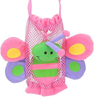 Socobeta Bebisflaska påse, giftfritt tyg söta tecknade figurer indragbara fästremmar säker baby tecknad flaska handväska f...