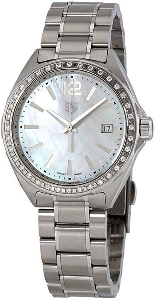 Tag heuer women`s formula-1 diamond, orologio per donna, quadrante in madreperla e lunetta con 36 diamanti WBJ131A.BA0666