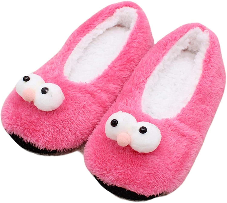 York Zhu Womens House Slipper - Cartoon Home Slippers Warm Soft Plush Non Slip Bootie