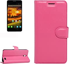 Mobile Phone Cases & Covers, For Alcatel One Touch Idol X / 6032 / OT-6032 Litchi Texture Horizontal Flip Leather Case with Holder & Card Slots & Wallet (Color : Magenta)