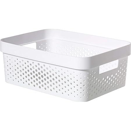 CURVER | Bac Infinity 11L , Blanc, 35,6 x 26,6 x 13,6 cm, Plastique recyclé