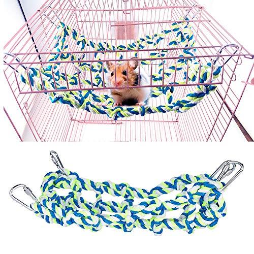 Pet klimmen speelgoed, kleurrijke geweven papegaai parkiet parkieten kooi opknoping klimmen schommel hamster eekhoorn hangmat net