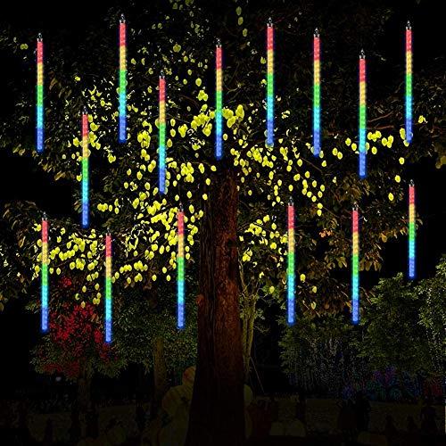 LED-Lichterkette für Haus, Dekoration, wasserdicht, Regentropfen, Weihnachten, Party, Hochzeit, Garten, Tannenbaum, Röhrchen (Farbe)