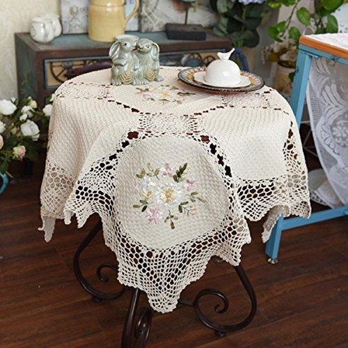 GAOJIAN El hilo de algodón de la mano de ganchillo gancho de flores Toalla de cabecera de la cama de cabecera de tela de tapa de cubierta de tela
