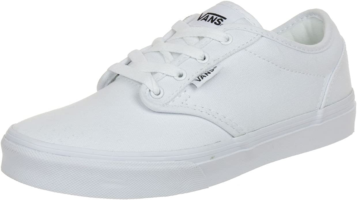 VANS Unisex Kids' Atwood Canvas Casual Low-Top Skate Shoes, Comfortable and Durable in Signature Waffle Rubber Outsole
