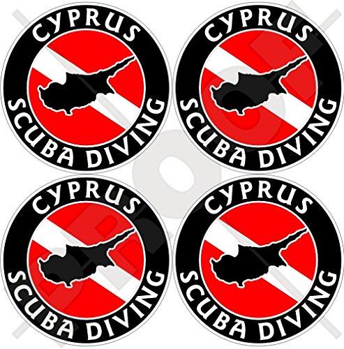 CYPRUS SCUBA Duiken Vlag-Cypriotische Kaart Vorm 50mm (2