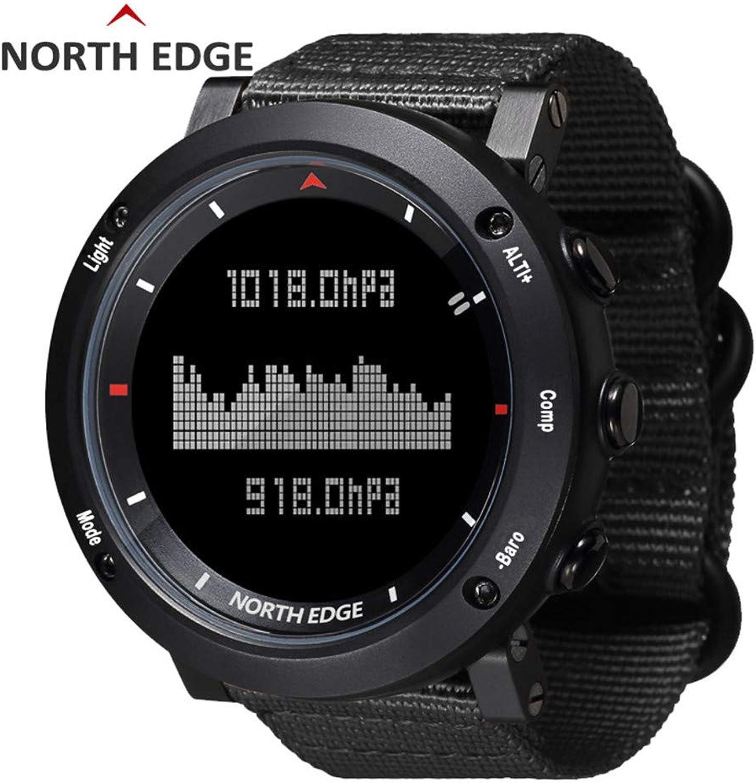 RENYAYA North Edge Herren Sport Digitale Uhrensportart Hours Running Swimming Sport Altimeter Barometer Kompass Thermometer Wetter