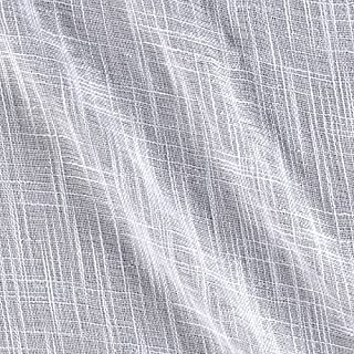 Ben Textiles 0348344 110in Faux Linen Sheer White Fabric by the Yard