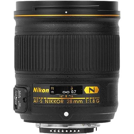 Nikon AF-S 28mm F1.8 G - Objetivo para Nikon (Distancia Focal Fija 28mm, Apertura f/1.8) Color Negro
