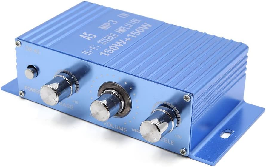 uxcell Blue Limited price 150W 12V 2 Channel Audio Stereo MP3 Amplif Hi-Fi DVD Max 75% OFF