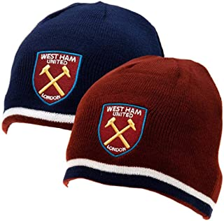 West Ham United FC Official Adults Unisex Reversible Knitted Hat