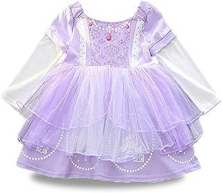 BIBIHOU Sofia Dress Girl Party Dresses Princess Sofia Party Costume Little Girl Clothes