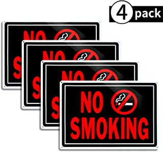 4-Pack No Smoking Sign,No Smoking Facility Sign Bulk10
